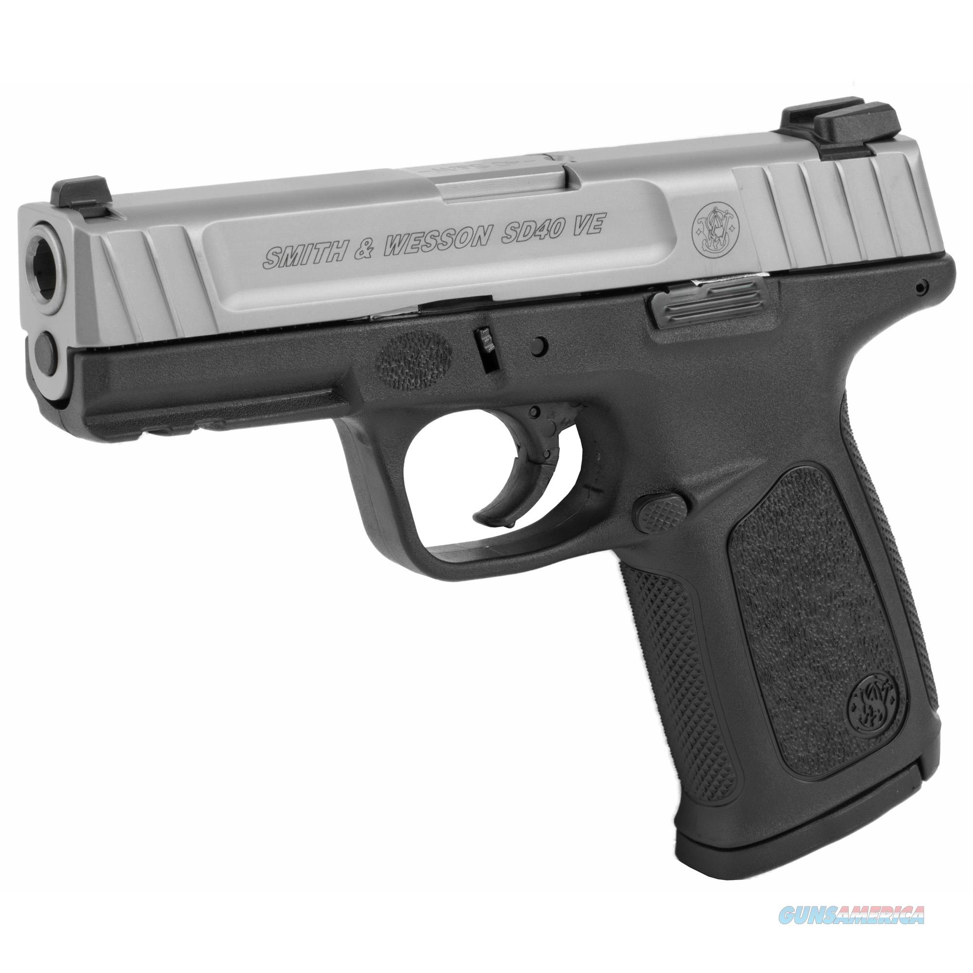 """Smith & Wesson SD40 VE .40 SS&W 4"""" 14+1 Stainless Steel  Guns > Pistols > Smith & Wesson Pistols - Autos > Alloy Frame"""
