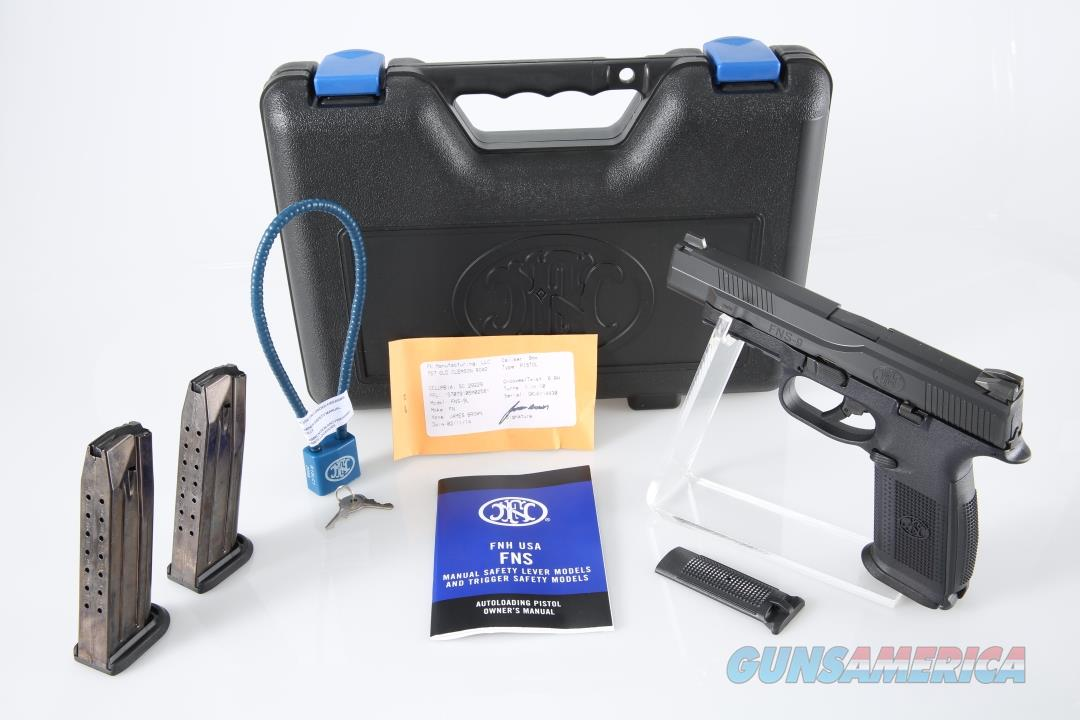 FNH USA FNS-9 Longslide 9mm Pistol - New in Box  Guns > Pistols > FNH - Fabrique Nationale (FN) Pistols > FNS