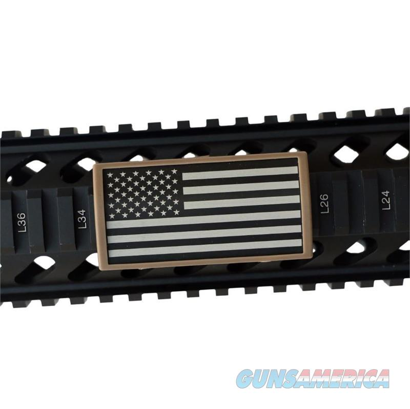 AR Custom Picatinny Rail Cover – United States Flag, Stars Left - FDE Retainer  Non-Guns > Gun Parts > M16-AR15 > Upper Only