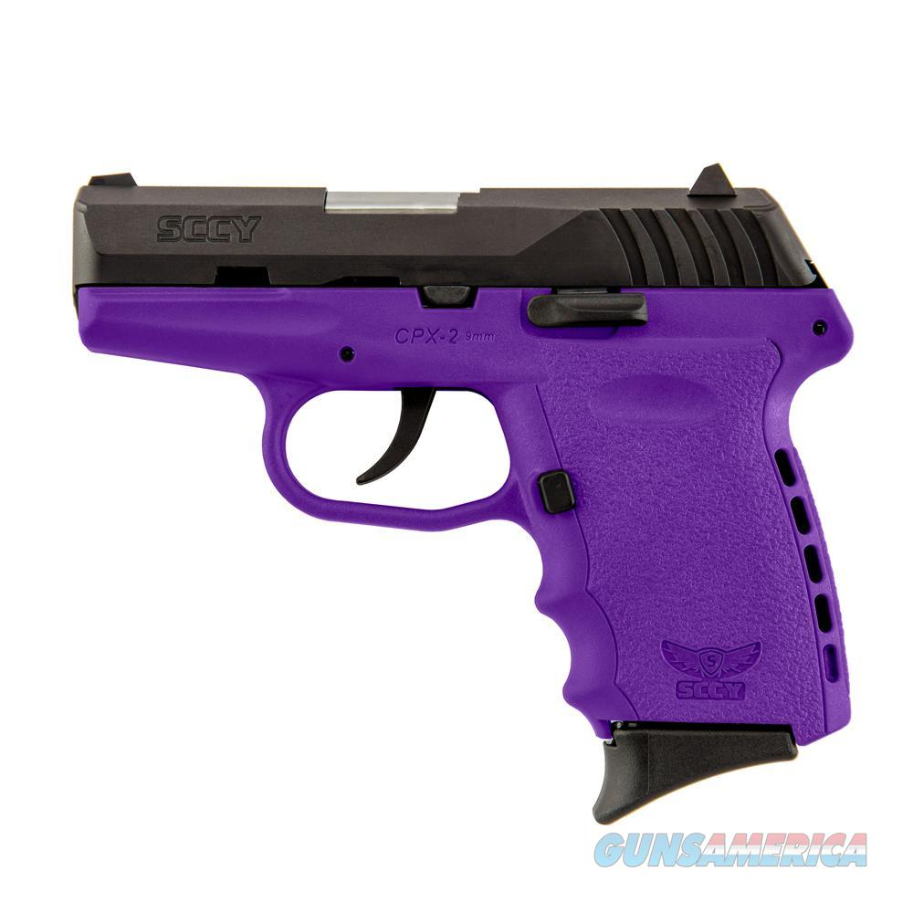 SCCY CPX-2 9mm Auto Pistol – Black/Purple  Guns > Pistols > A Misc Pistols