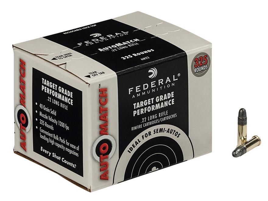 Federal AutoMatch Target .22 Long Rifle Ammunition - Box of 325  Non-Guns > Ammunition