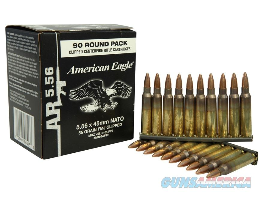 American Eagle 5.56x45mm 55 Grain FMJ 450 Round Case  Non-Guns > Ammunition