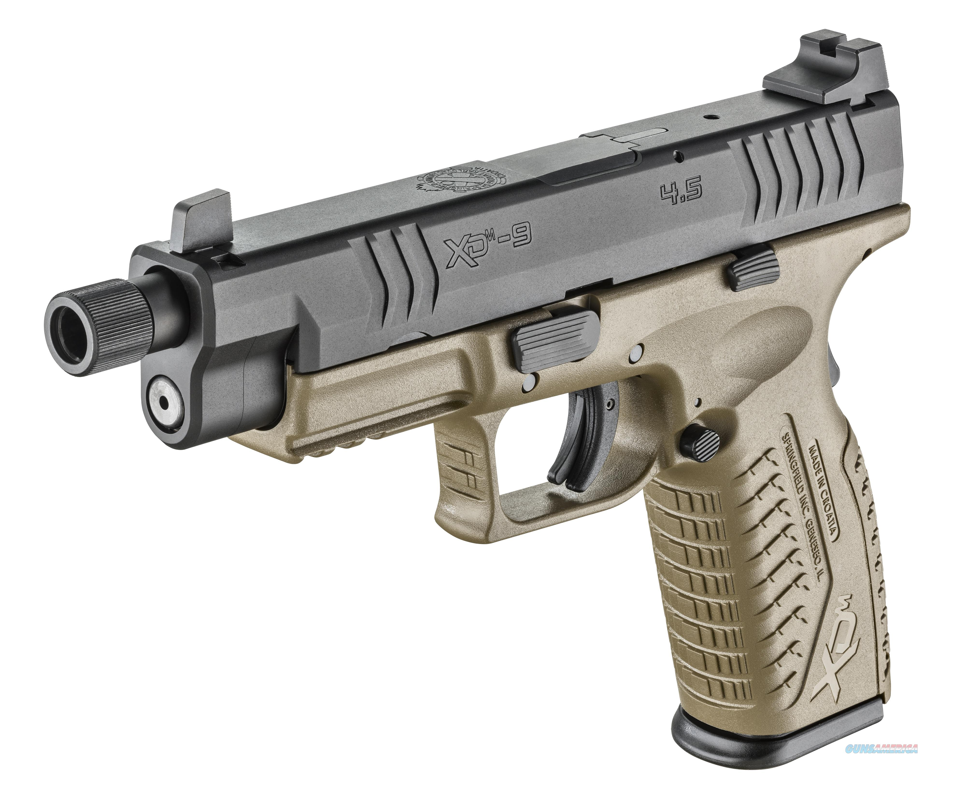 "Springfield XD(M) Full Size 9mm 4.5"" 19+1 FDE - New in Case  Guns > Pistols > Springfield Armory Pistols > XD-M"