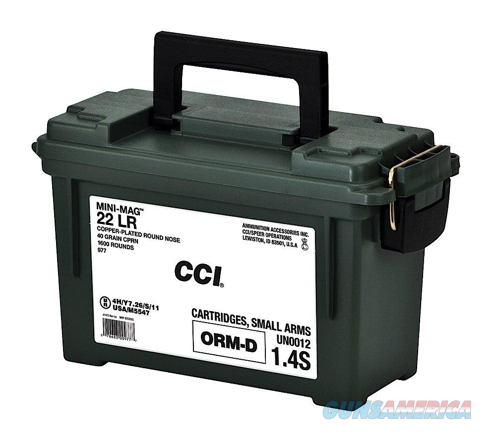 CCI Mini-Mag 22LR 40 Grain 1600 Rounds in Ammo Can  Non-Guns > Ammunition