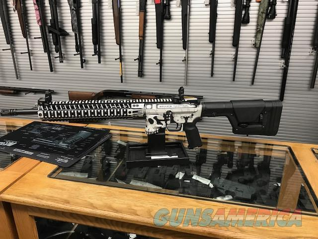 """Limited Edition Spike's Tactical Storm Trooper AR-15 Semi Auto Rifle 5.56mm NATO. Jack Billet Lower and Billet Upper and 12"""" Bar 2 Rails with Custom White Distressed Paint  Guns > Rifles > Spikes Tactical Rifles"""
