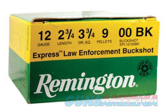 Remington Law Enforcement 12 Gauge 2.75 Inch 1325 FPS 9 Pellets 00 Buck  Non-Guns > Ammunition