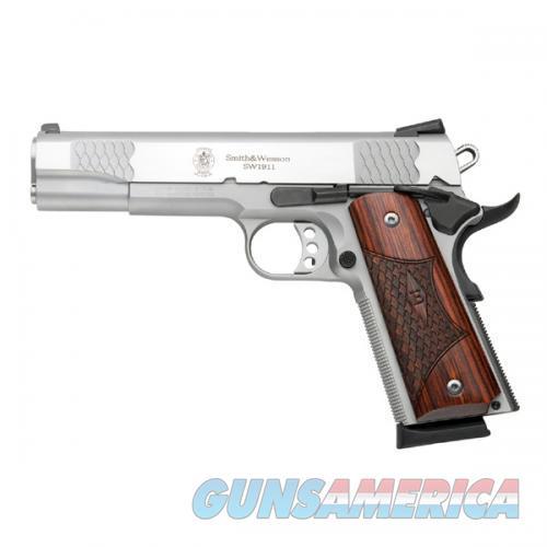"S&W SW1911 E Series Semi Auto Pistol .45 ACP 5"" Barrel 8 Round Laminate Grips Stainless  Guns > Pistols > Smith & Wesson Pistols - Autos > Steel Frame"