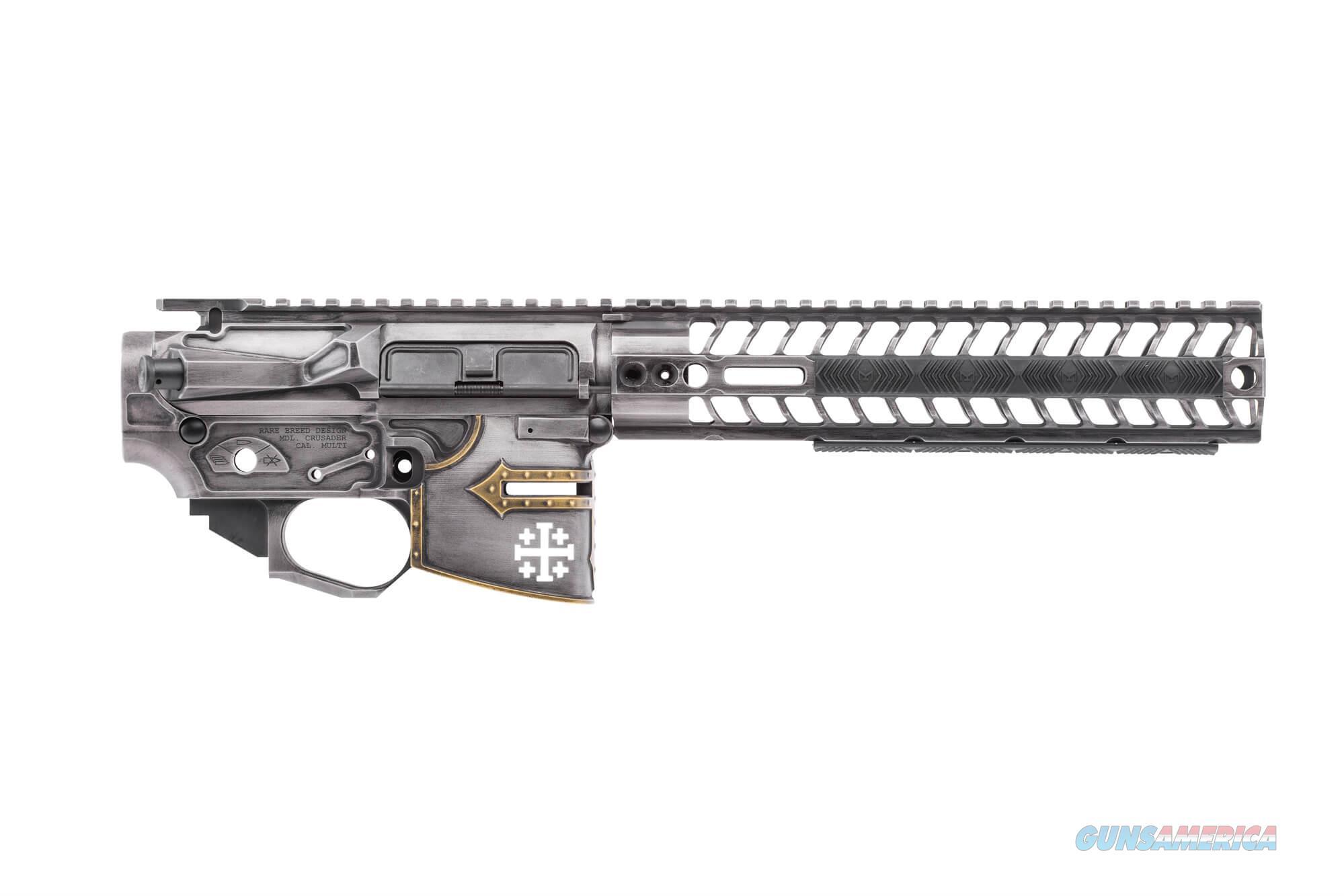 Spike's Tactical DISTRESSED RARE BREED CRUSADER SET (LOWER, BILLET UPPER, RAIL)  Guns > Pistols > Spikes Tactical Pistols