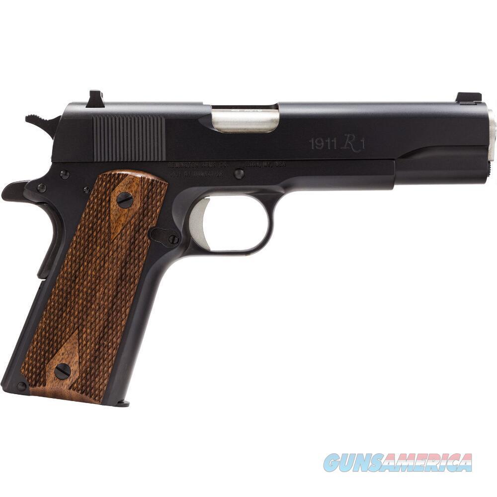 "Remington Model 1911 R1 Semi Auto Handgun .45 ACP 5"" Barrel 7 Rounds Double Diamond Walnut Grips Black Finish  Guns > Pistols > Remington Pistols - Modern > 1911"
