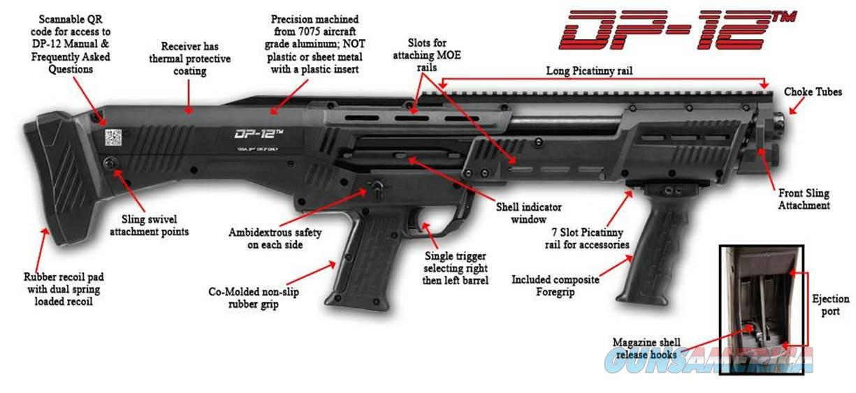 DP-12 DOUBLE BARREL PUMP SHOTGUN BLACK FROM STANDARD MANUFACTURING / CONNECTICUT SHOTGUN  Guns > Shotguns > Connecticut (Galazan) Shotguns