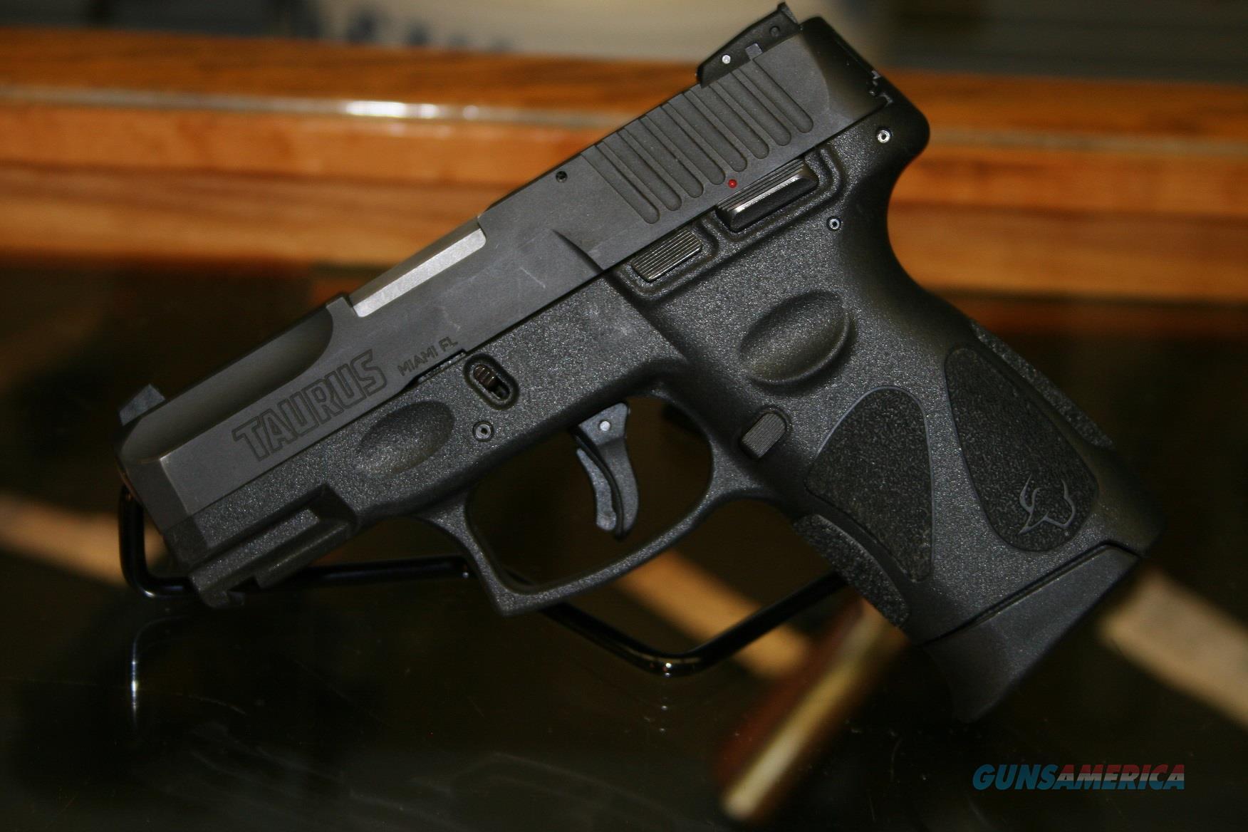 """Taurus PT111 G2C Semi Auto Pistol 9mm Luger 3.2"""" Barrel 12 Rounds 3 Dot Sights Black Slide and Polymer Frame  Guns > Pistols > Taurus Pistols > Semi Auto Pistols > Polymer Frame"""