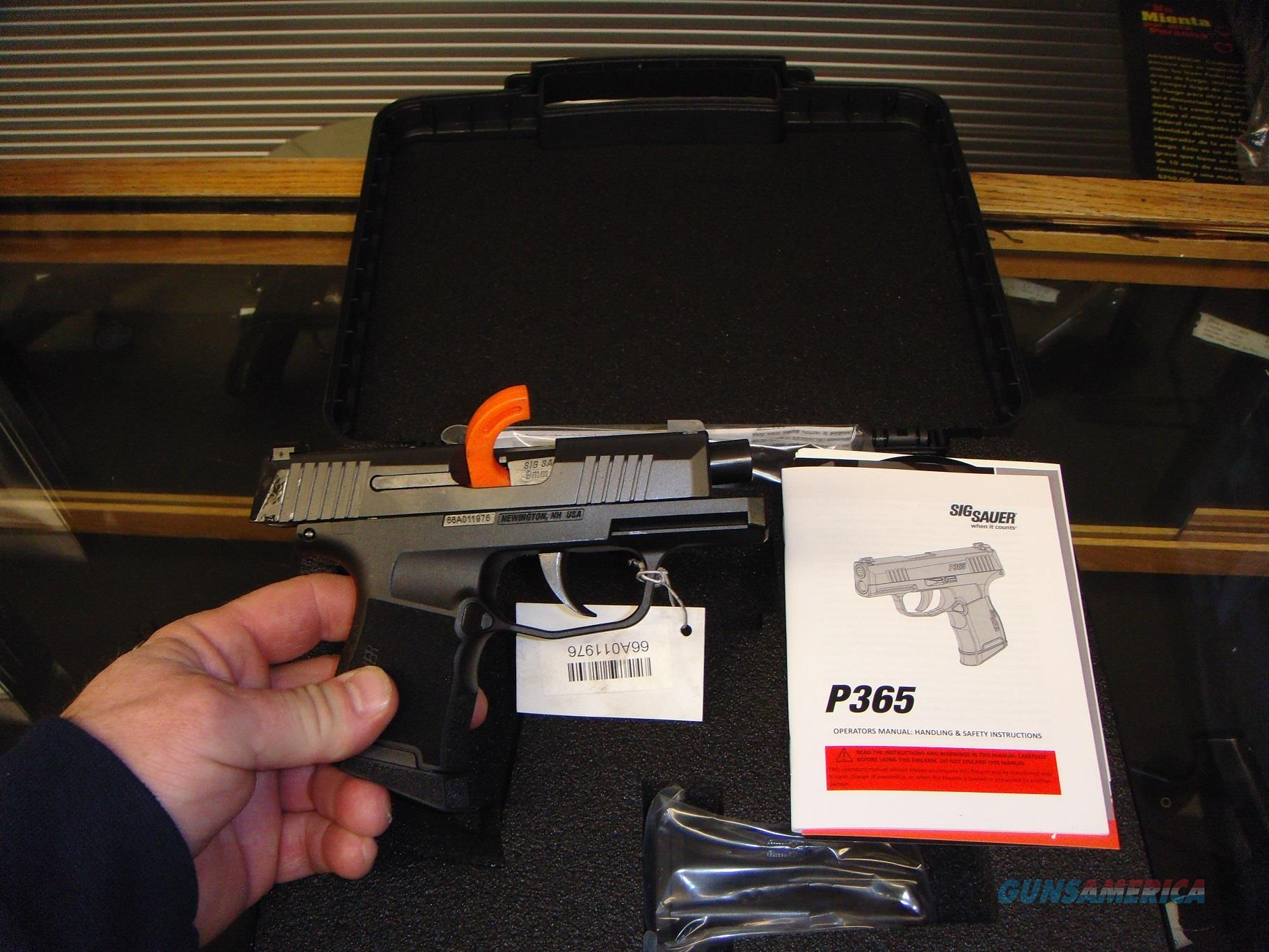 Sig Sauer P365 9mm Micro Compact Striker-Fired Pistol  Guns > Pistols > Sig - Sauer/Sigarms Pistols > P365