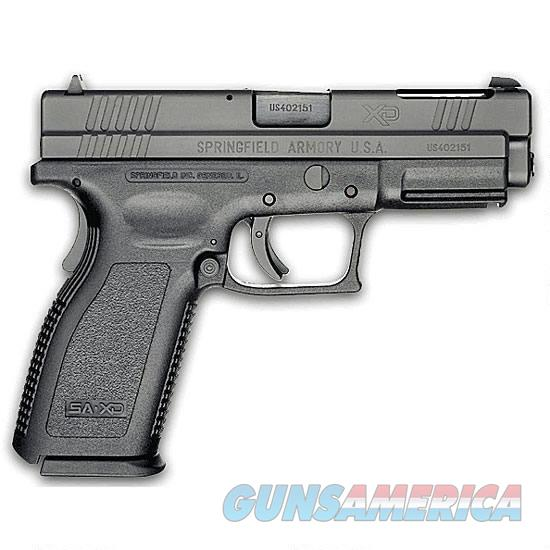 "Springfield Armory XD Service Semi Automatic Handgun Essentials Package 9mm 4"" Barrel 16 Rounds 3 Dot Sights Checkered Polymer Grips Black Melonite Finish  Guns > Pistols > Springfield Armory Pistols > XD (eXtreme Duty)"