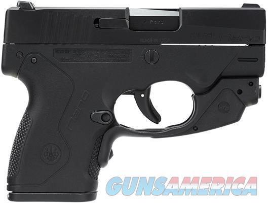 "Beretta Nano Semi-Automatic Pistol 9mm Luger 3.07"" Barrel 6 Rounds Polymer Frame Black with Crimson Trace Laser Guard  Guns > Pistols > Beretta Pistols > Polymer Frame"