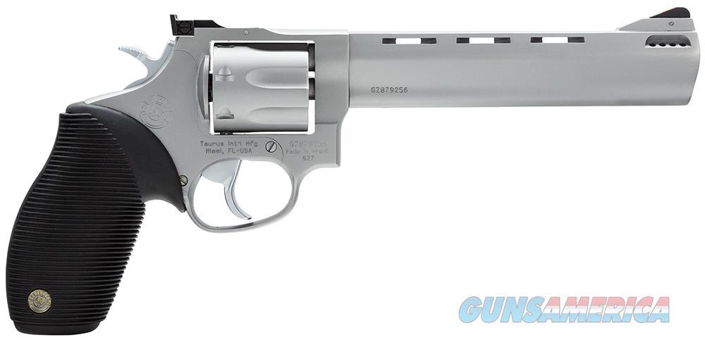 Taurus Tracker 627 Revolver .357 Magnum 6.5in Ported Barrel 7 Rounds Rubber Grip Stainless Finish  Guns > Pistols > Taurus Pistols > Revolvers
