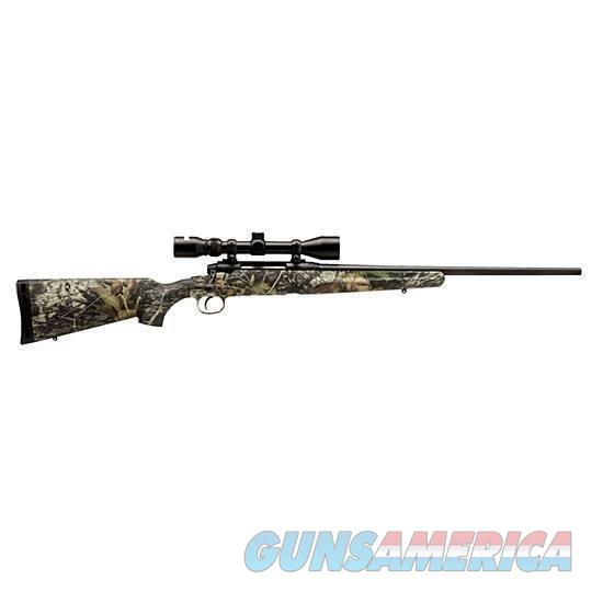"Savage Axis XP Bolt Action Rifle .223 Rem 22"" Barrel 4 Rounds Camo Stock Black Finish 39x40mm Scope  Guns > Rifles > Savage Rifles > Axis"