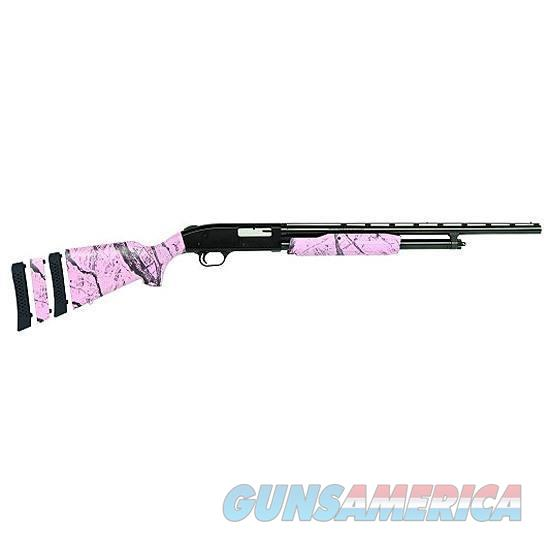 "Mossberg 500 Super Bantam Pump Action Shotgun 20 Gauge 22"" Barrel 3"" Chamber 6 Rounds Pink Camo Synthetic Stock Blued Barrel   Guns > Shotguns > Mossberg Shotguns > Pump > Sporting"