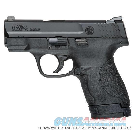 "Smith & Wesson M&P Shield SemiAuto .40 S&W 3.1"" Barrel 6 Rounds No External Safety Polymer Frame Black   Guns > Pistols > Smith & Wesson Pistols - Autos > Shield"