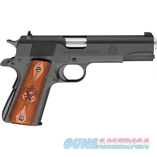 "Springfield Armory 1911 Mil-Spec Semi Auto Pistol .45 ACP 5"" Barrel 7 Rounds Wood Grips Blued  Guns > Pistols > Springfield Armory Pistols > 1911 Type"