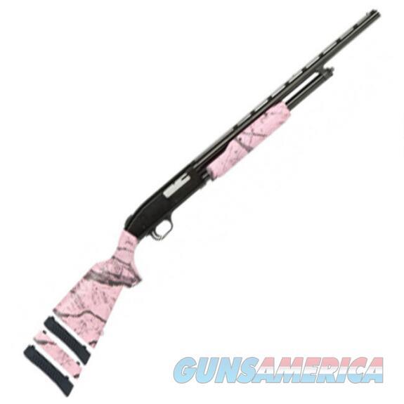 "Mossberg 500 Super Bantam Pump Shotgun 20 Gauge 22"" Barrel 3"" Chamber 5 Round Pink Camo Synthetic Stock Blued Barrel  Guns > Shotguns > Mossberg Shotguns > Pump > Sporting"