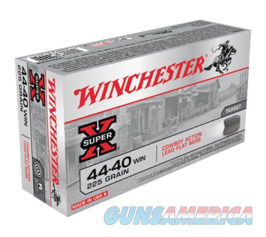 .44-40 Winchester USA 225 Grain Lead Flat Point Bullet 750 fps 50 Rounds  Non-Guns > Ammunition