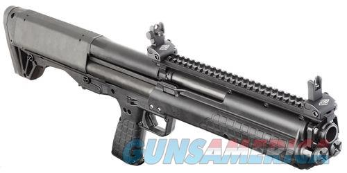 "Kel-Tec KSG Pump Action Shotgun 12 Gauge 18.5"" Barrel 3"" Chamber 12 Rounds Dual Tube Magazines Downward Ejection Ambidextrous Synthetic Stock Matte Black Finish  Guns > Shotguns > Kel-Tec Shotguns > KSG"