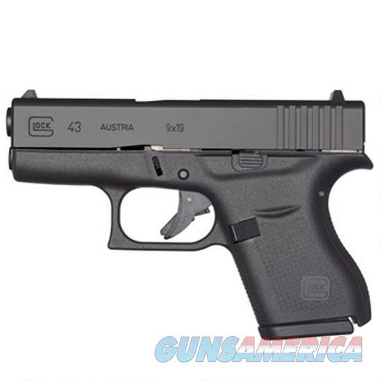 "GLOCK 43 9mm Semi Auto Pistol, 3.39"" Barrel 6 Rounds, Single Stack  Guns > Pistols > Glock Pistols > 43"