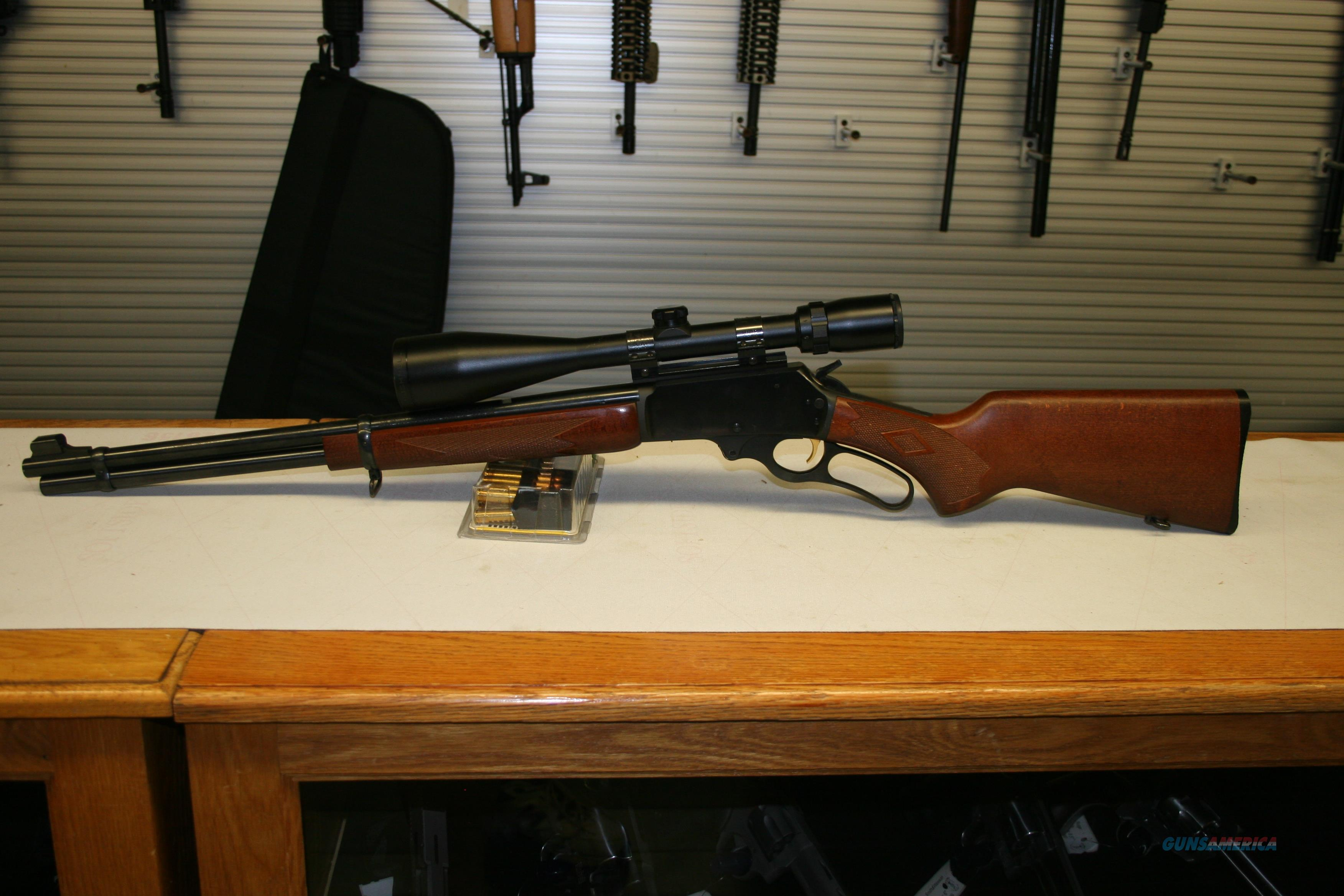"Marlin 336W,  Bushnell 3-9x32mm scope Lightweight Hunting Rifle Target Gun .30-30 Winchester 20"" Barrel 6 Rounds Laminate Wood furniture Stock W checkering Blued steel.  Guns > Rifles > Marlin Rifles > Modern > Lever Action"