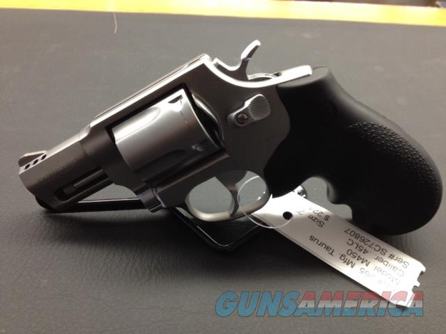 "Taurus Revolver Model M450 45 L.C. 2"" Colt Ported bbl Stainless 5 Shot New Hogue Grips  Guns > Pistols > Taurus Pistols/Revolvers > Revolvers"