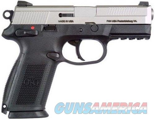 "FN FNX-40 Semi Automatic Handgun .40 S&W 4"" Barrel 14 Rounds Black Polymer Frame Matte Silver Finish  Guns > Pistols > FNH - Fabrique Nationale (FN) Pistols > FNP"