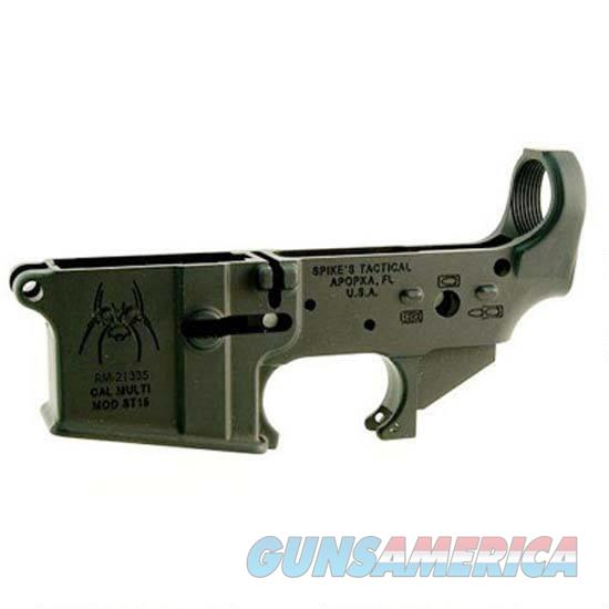 Spike's Tactical Spider AR-15 Lower Receiver .223 Rem/5.56 NATO Stripped Black  Guns > Rifles > Spikes Tactical Rifles