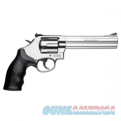 "S&W Model 686 Revolver .357 Magnum 6"" Barrel 6 Rounds Adjustable Sights Rubber Grips Satin Stainless Finish  Guns > Pistols > Smith & Wesson Revolvers > Med. Frame ( K/L )"