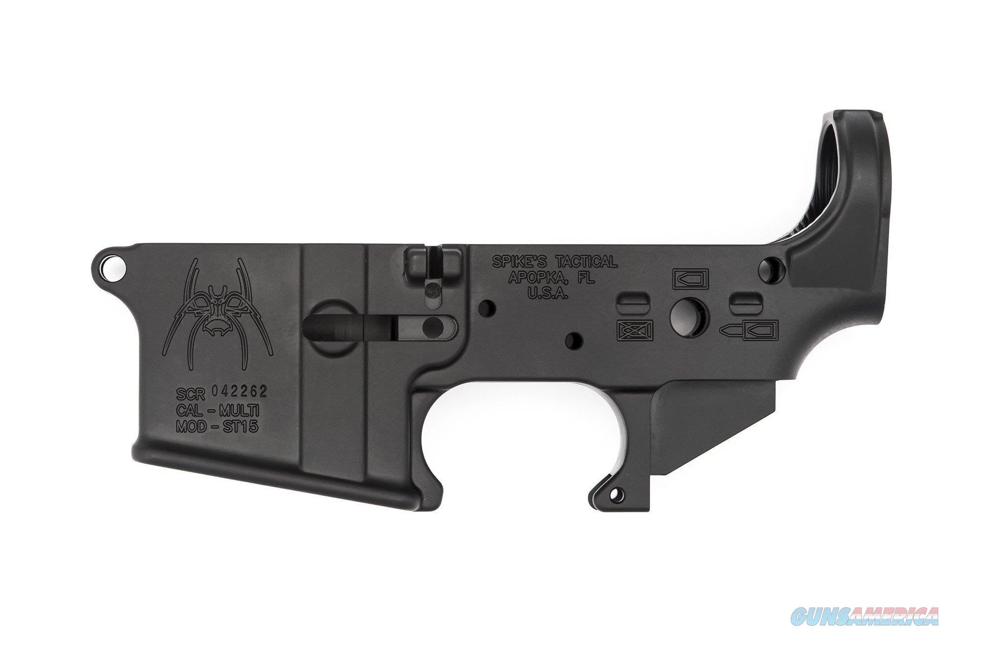 Spike's Tactical  Spider Stripped Lower Receiver (Bullet Markings)  Guns > Pistols > Spikes Tactical Pistols