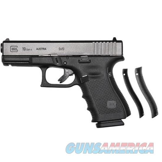 "GLOCK 19 GEN 4 Semi Automatic Pistol 9mm Luger 4.02"" Barrel 15 Rounds Polymer Frame Black Finish  Guns > Pistols > Glock Pistols > 19"