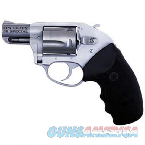"Charter Arms On Duty Revolver .38 Special +P 2"" Barrel 5 Rounds Rubber Grips Stainless Finish  Guns > Pistols > Charter Arms Revolvers"