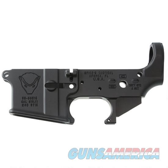 Spikes Tactical AR-15 Forged Stripped Lower Receiver Multi Caliber Forged Honey Badger Non-Color Filled Aluminum Black   Guns > Rifles > Spikes Tactical Rifles