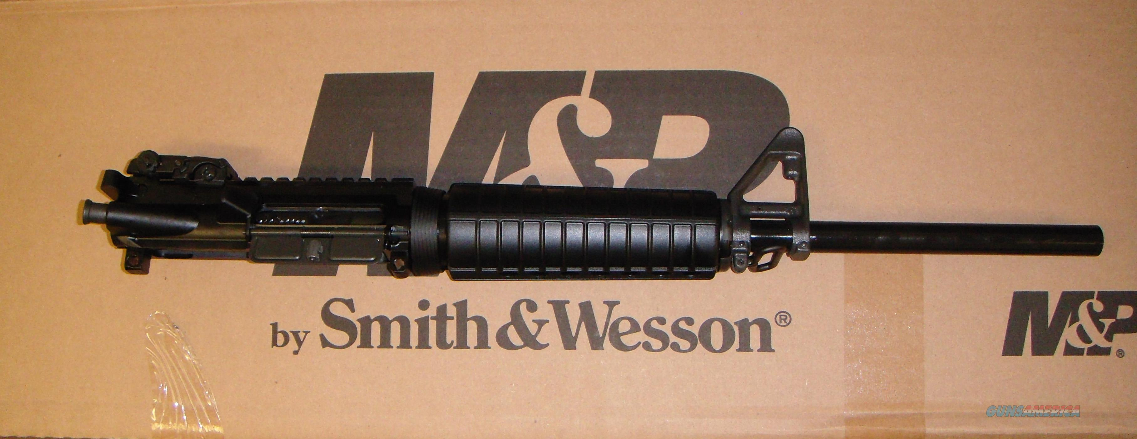 "SMITH&WESSON M&P15 16"" COMPLIANT COMPLETE UPPER RECEIVER AND PINNED STOCK, NO BAYONET LUG OR FLASH HIDER!!! ma mass nj ca  Non-Guns > Gun Parts > M16-AR15 > Upper Only"