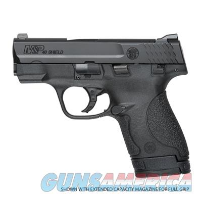 "Smith & Wesson M&P Shield, Double Action Only, Compact, 40 S&W, 3.1/8"" Barrel, Polymer Frame, Blue Finish, 3 Dot Sight, Thumb Safety, 6 and 7Rd Magazines  Guns > Pistols > Smith & Wesson Pistols - Autos > Shield"