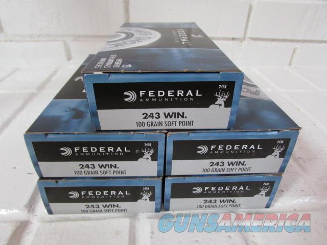 243 Win 100gr Federal Power-Shok Soft Point 100 Rounds  Non-Guns > Ammunition