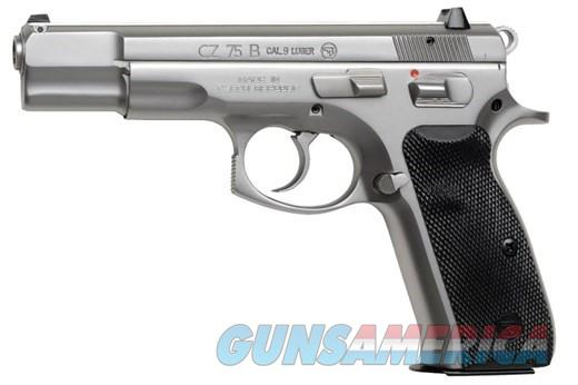 "CZ CZ 75B 9MM, MATTE SS 4.7"" 16+1 FS 3-DOT SIGHT S  Guns > Pistols > CZ Pistols"