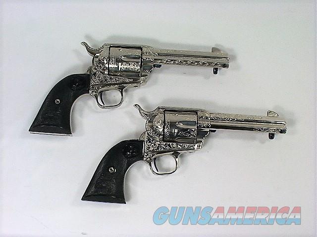 "224X COLT SAA 45 LC 4 ¾"" BLACK POWDER FRAME CONSECUTIVE NUMBERED PAIR ADAMS ENGRAVED  Guns > Pistols > Colt Single Action Revolvers - 3rd Gen."