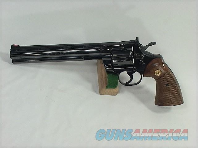 "D48X COLT PYTHON 357 8"" BLUE, NEW IN FAIR BOX  Guns > Pistols > Colt Double Action Revolvers- Modern"