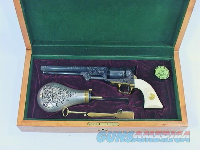 951 COLT 1851 NAVY 2ND GENERATION, FACTORY CUSTOM SHOP ENGRAVED  Guns > Pistols > Colt Percussion Revolver - Modern