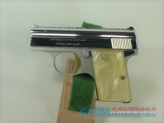 204W BROWNING BABY 25ACP NICKEL  Guns > Pistols > Browning Pistols > Baby Browning