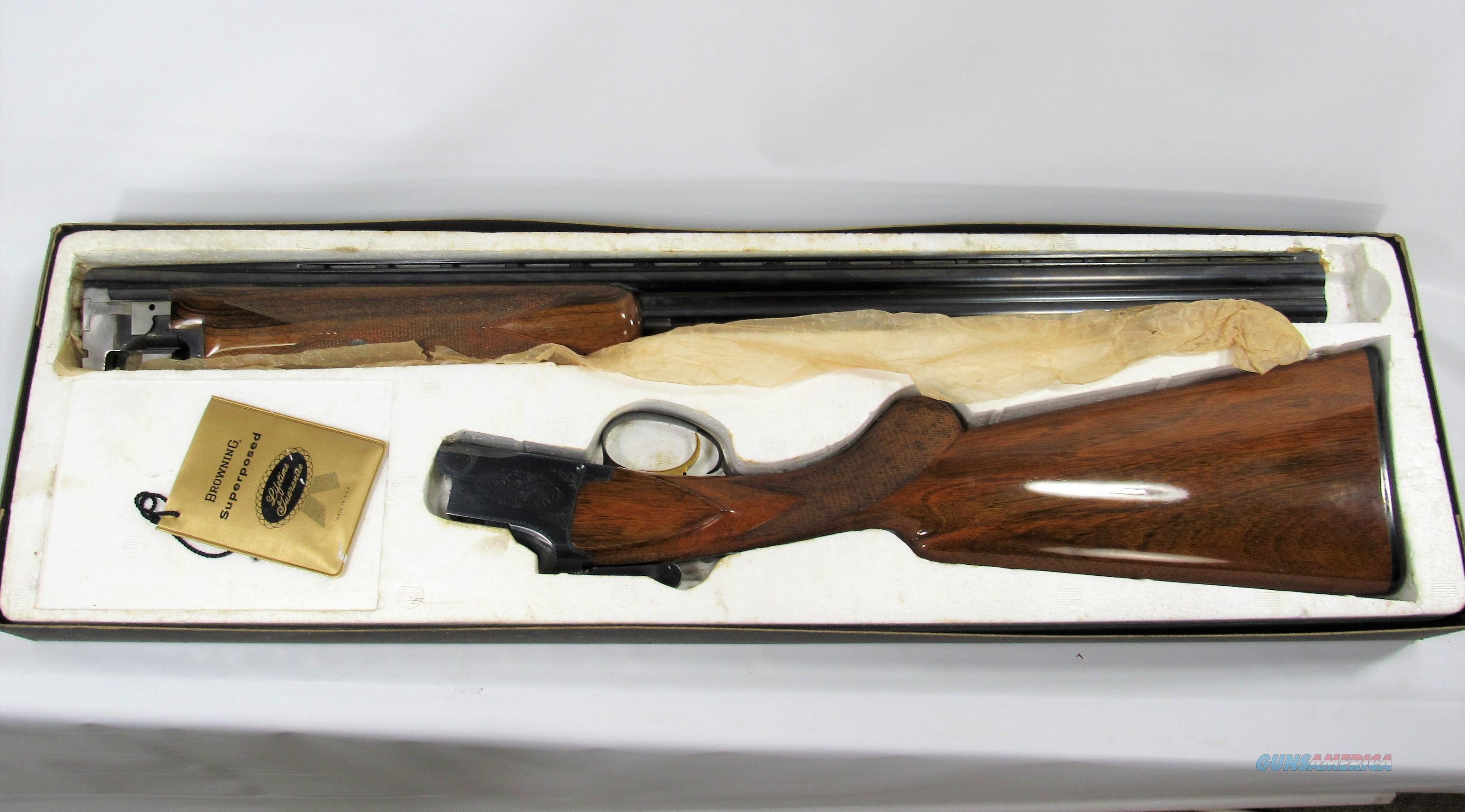 123Y BROWNING SUPERPOSED LIGHTNING 20GA  Guns > Shotguns > Browning Shotguns > Over Unders > Belgian Manufacture