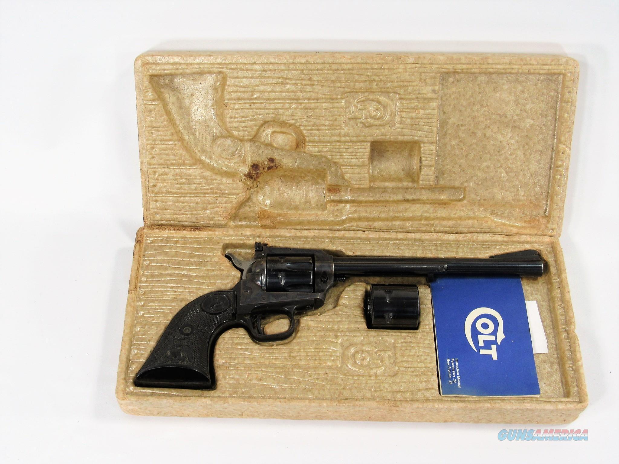 29Y COLT NEW FRONTIER BUNTLINE 22/22MG  Guns > Pistols > Colt Single Action Revolvers - Modern (22 Cal.)