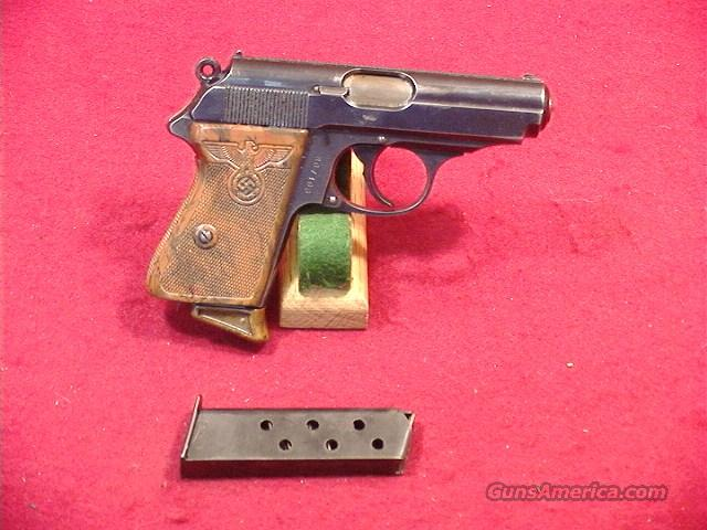 C495Q WALTHER PPK RZM WITH HIGH LEADER GRIPS 32ACP  Guns > Pistols > Walther Pistols > Pre-1945 > PPK