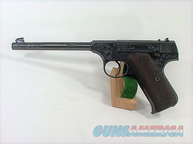 131X COLT PRE WOODSMAN 22 LR JOHN ADAMS ENGRAVED  Guns > Pistols > Colt Automatic Pistols (22 Cal.)