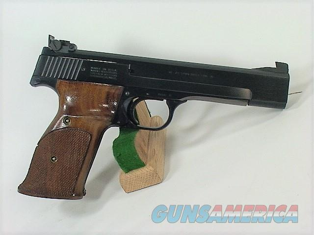 "D3W S&W 41 22LR 5 ½"", EARLY A PREFIX WITH COCKING INDICATOR  Guns > Pistols > Smith & Wesson Pistols - Autos > .22 Autos"