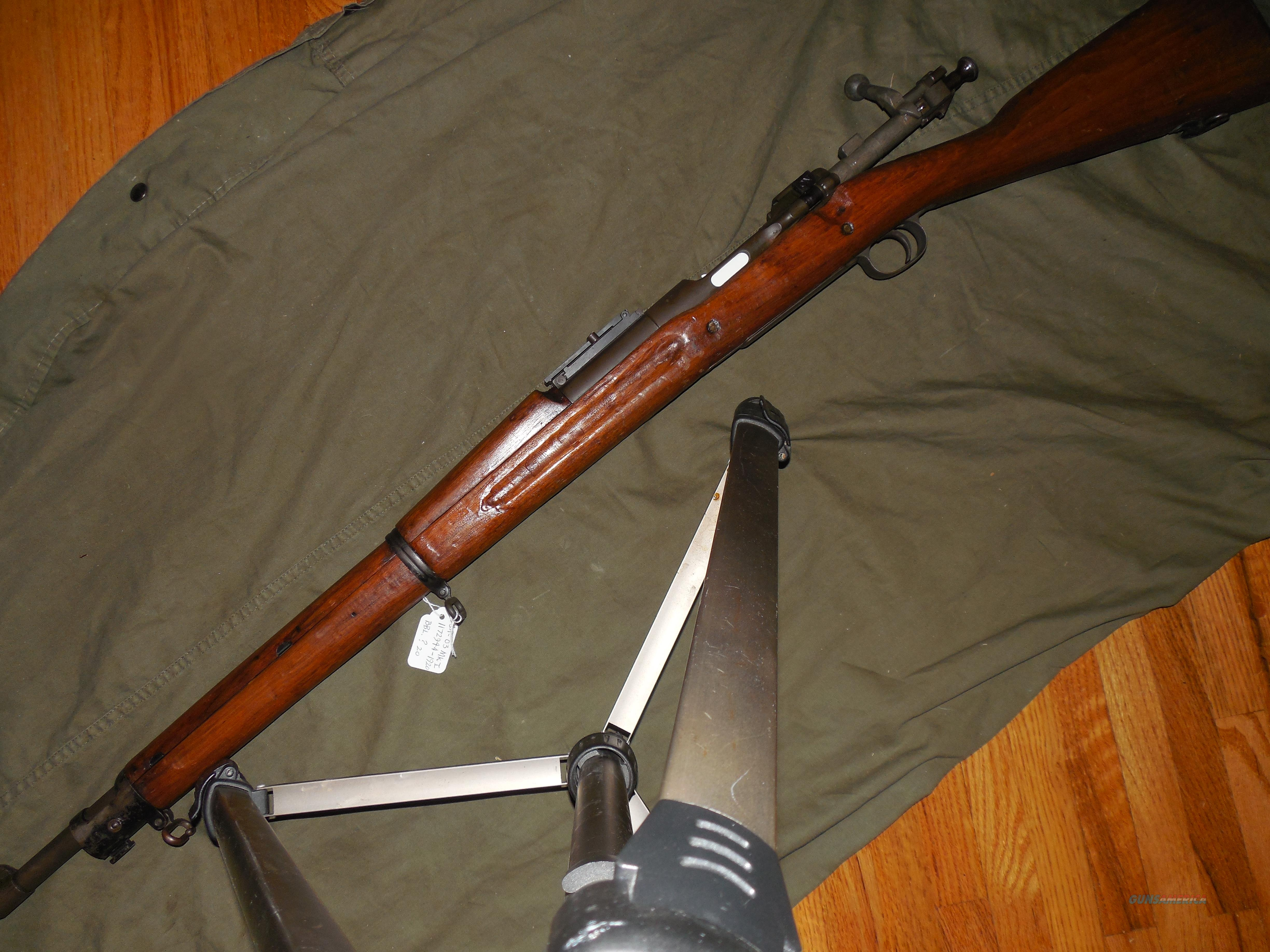 1903 Mark I with Pedersen slot WWI secret  Guns > Rifles > Military Misc. Rifles US > 1903 Springfield/Variants